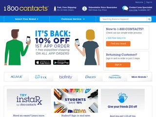 1 800 contacts reviews 142 reviews of 1800contacts com