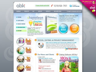 abk soft dating software Among its products you can find chameleon (social networking and dating software), abledating (dating script), oryx (community software), ablespace (community software)more how to use.