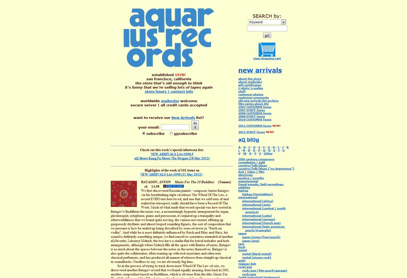 Aquarius Record