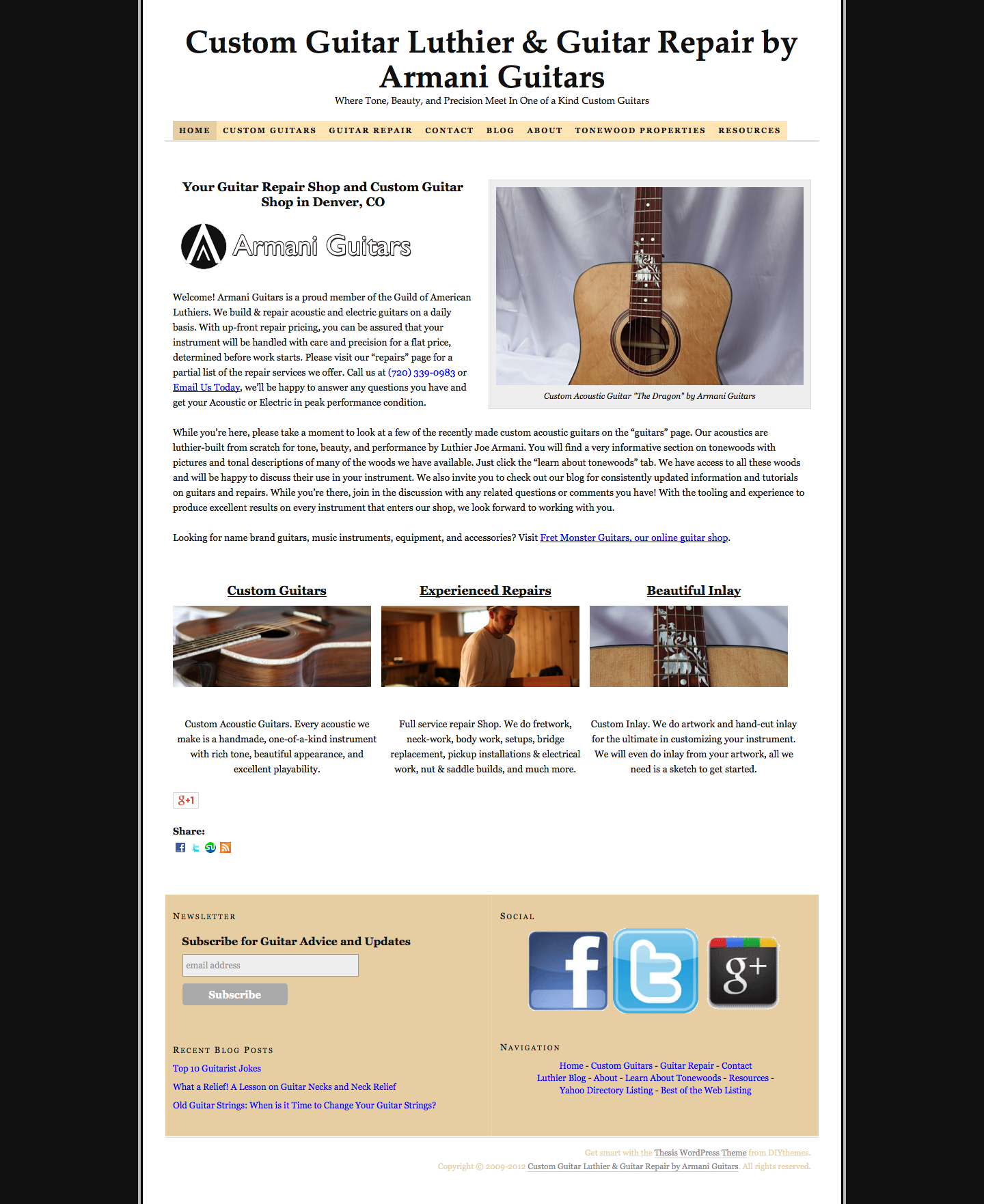 Armani Guitars