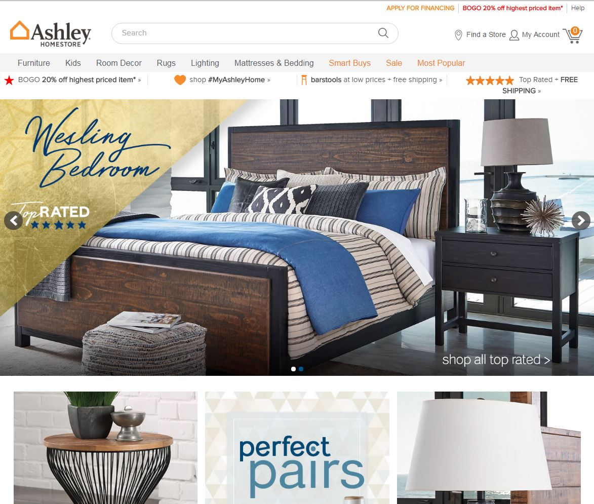 Shop For Furniture Online: 167 Reviews Of Ashleyhomestores