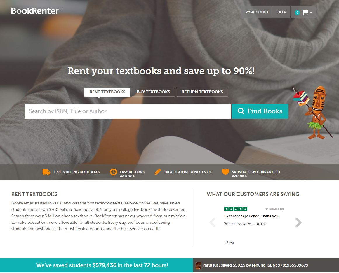 Rent Textbooks | Cheap College Textbook Rentals | BookRenter com