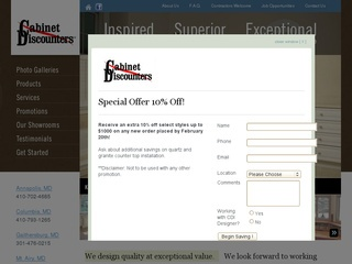 Cabinet Discounters, Inc.