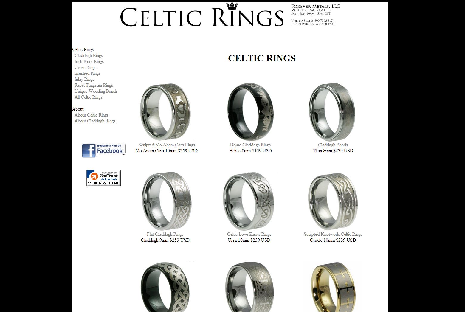 celtic rings rated 5  5 stars by 7 consumers