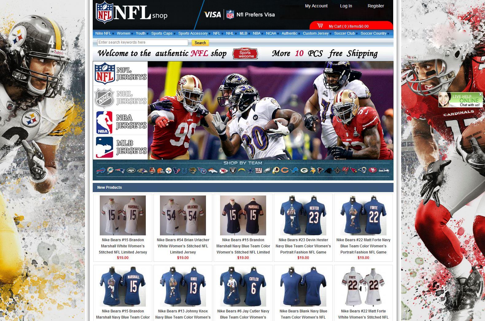 online store 1413a f14de Cheap Wholesale NFL Jerseys Online Shop Reviews | Consumer ...