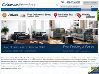 Coleman Furniture Reviews | 905 Reviews Of Colemanfurniture.com |  ResellerRatings