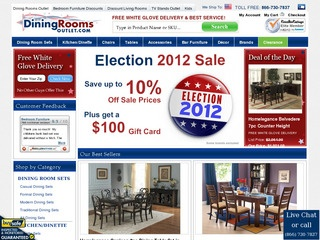 Diningroomsoutlet.com Reviews | 227 Reviews Of Diningroomsoutlet.com |  ResellerRatings