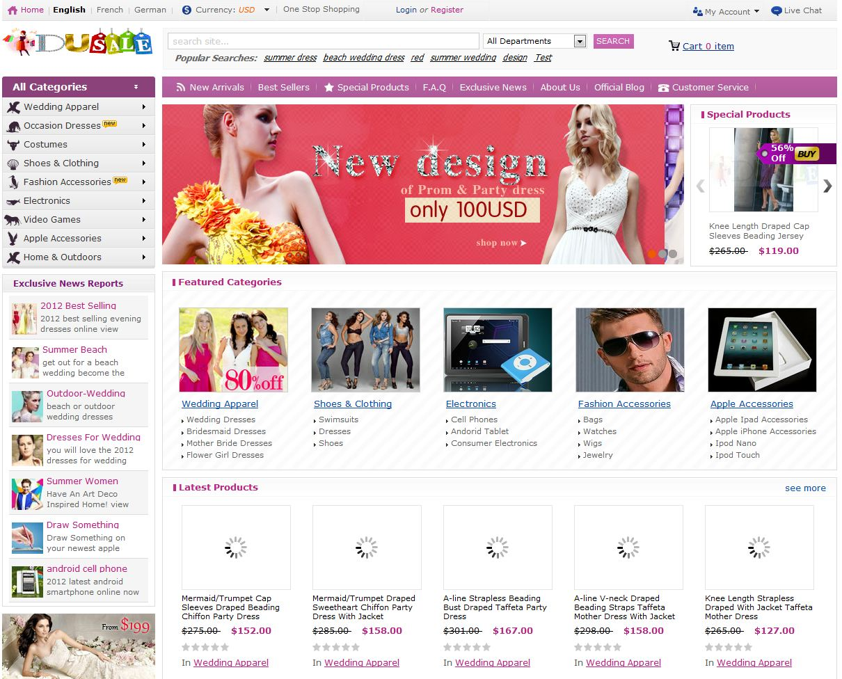 Stores > Dusale--Global Online Shopping Mall