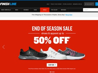 Finish Line, Inc. is a leading athletic retailer offering the best selection of brand name footwear, apparel and accessories. Finish Line operates more than.