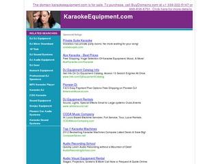 Karaoke Equipme