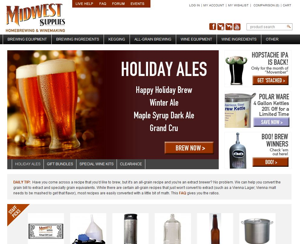 Midwest Supplies Beer. Simply Beer. - Homebrewing Beer Brewing Starter Kit - 5.