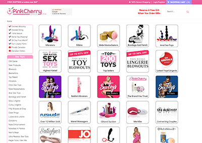 Pink cherry sex shop
