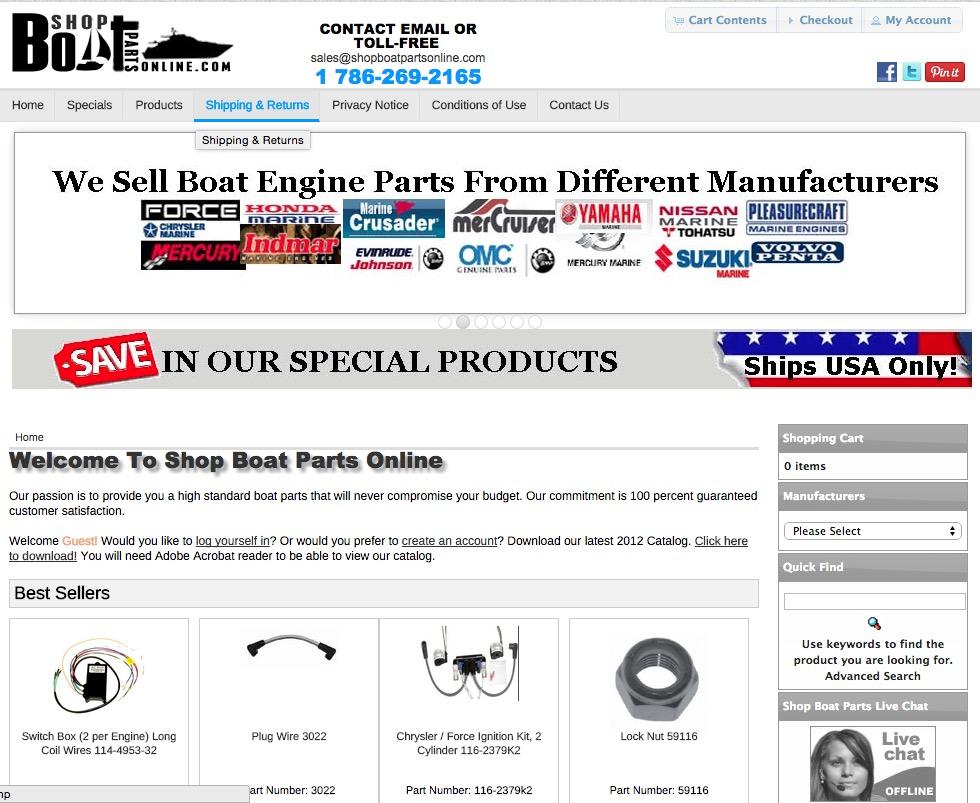 Shop Boat Parts