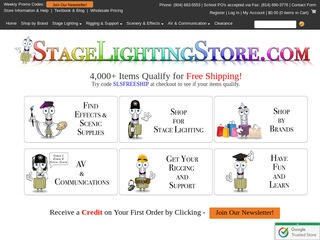 Charming Stage Lighting Store / Stageproductionstore.com