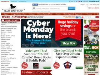 State Line Tack Coupons, Sales & Promo Codes. For State Line Tack coupon codes and deals, just follow this link to the website to browse their current offerings. And while you're there, sign up for emails to get alerts about discounts and more, right in your inbox. .