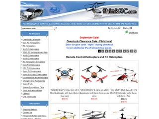 If your thoughts turn, even for a moment, to remote control toys and particularly RC helicopters, then you have to go to Think RC. Think RC is the destination to find high-quality remote control helicopters at .