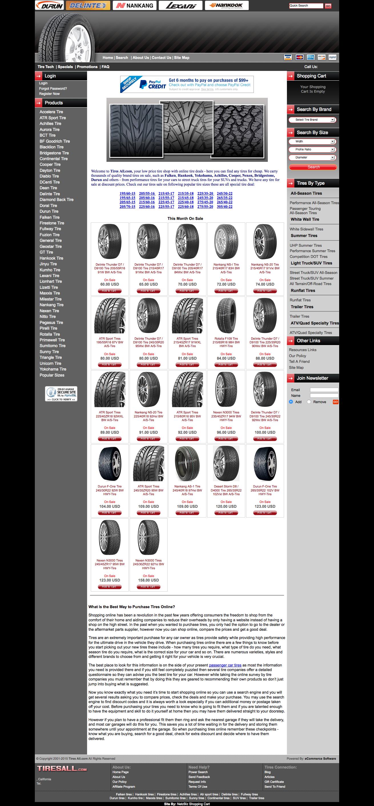 Shop for tires online