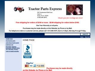 Tractor Parts E