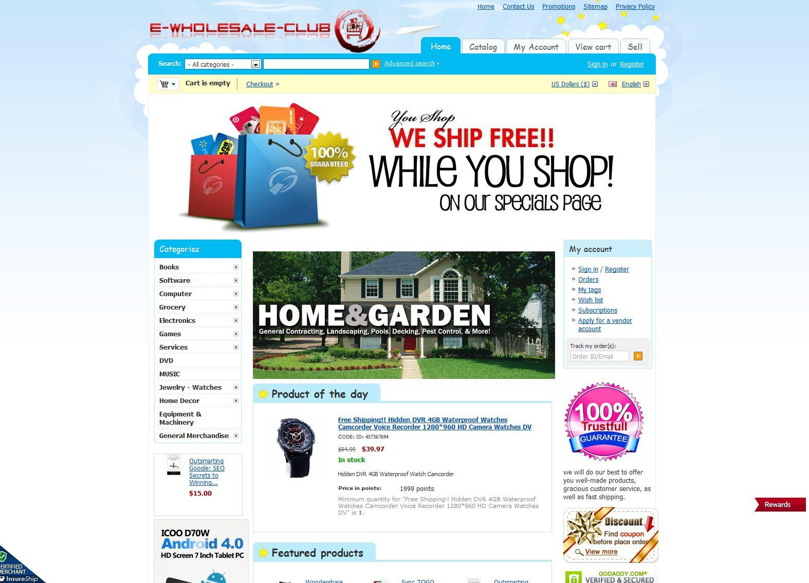Club Online Shopping Club Reviews - e-wholesale-club.com/SHOP Ratings ...