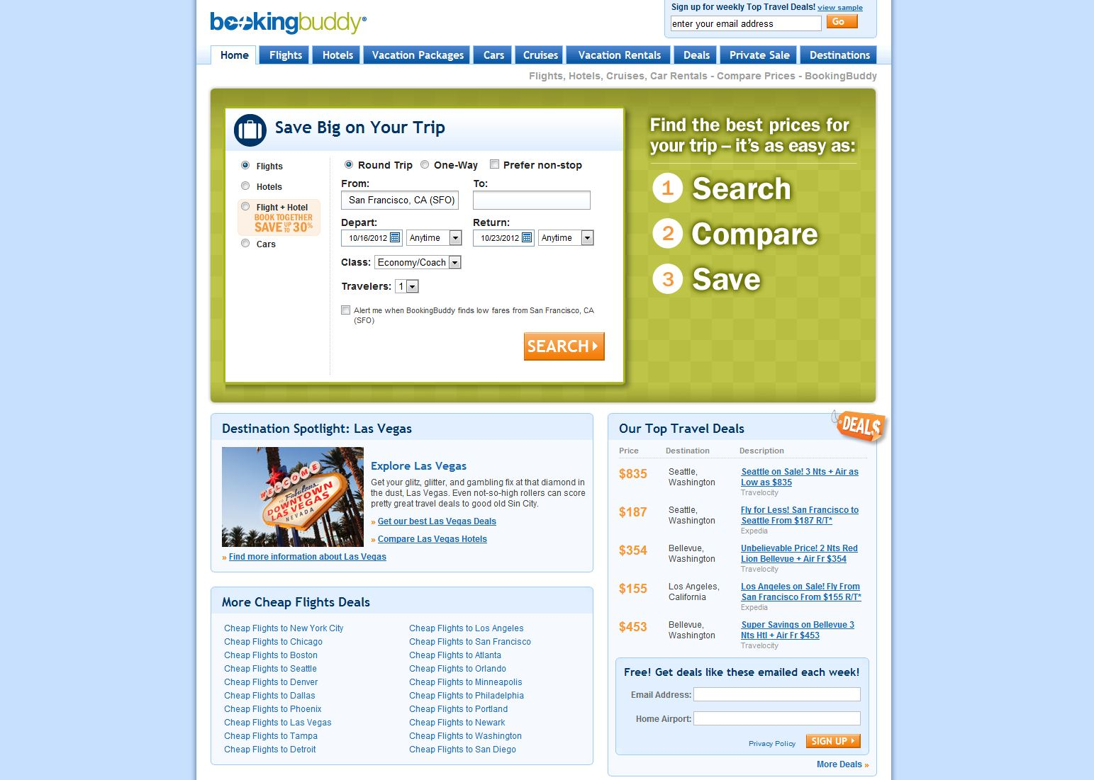 As a comparison-shopping portal, ferricd.cf will show you what last minute deals are currently available from some of the top travel websites. BookingBuddy Review. ferricd.cf is a website owned and operated by the parent company Smarter Travel Media LLC.
