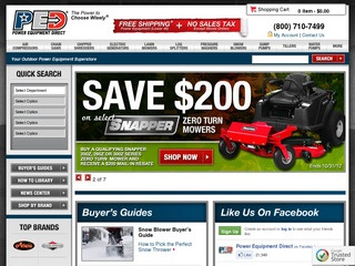 Power Equipment Direct: Online retailer specializing in power equipment.